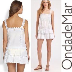 OndadeMar White Eden Hues Swim Cover Up Dress